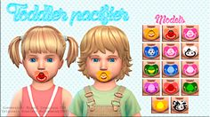 Miguel Creations TS4: Toddler pacifier - ACC // http://thevainsimmer.tumblr.com/