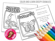 Children love to learn about all the amazing creepy crawlies in the world around them. Below we've created ten different color and learn activity pages filled with fun facts, simple coloring and a space for children to write their own thoughts about the creature. These are fantastic for science units, children can bind them together …