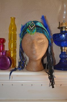 Tribal Headdress Boho Belly Dance Head Jewelry by Linarain on Etsy #craftshout 0210
