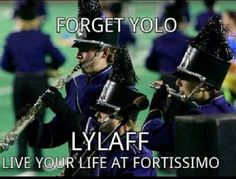 LYLAFF! #band I find it hilarious that they depict some of the less loud instruments. This should really be a low brass section. #notbiased #lowbrassplayer