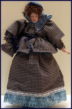Linda Walsh Originals Dolls and Crafts Blog: Lettice Would Really Like To Meet Some New People - Victorian Girl Doll