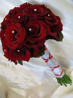 Wedding, Flowers, Red, Rose