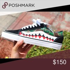 41e33766ee Bape Camo Shark Vans Custom Custom hand painted Vans Old Skools. Shark  teeth are only. Vans CustomiséesVans ShoesShoes ...