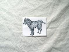 Timbro di gomma del lupo - cane francobollo