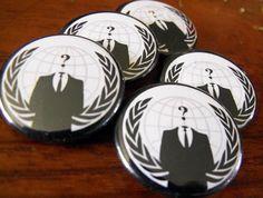 Anonymous Pinback Buttons 5pcs