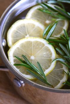 Lemon, Rosemary & Vanilla Simmer Pot! Fill your home with the most wonderful scent!