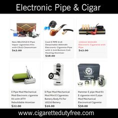 Electronic Pipe & Cigar - http://www.cigarettedutyfree.com/english/e-cigarettes/electronic-pipe-cigar.html  #Cigarettes #CigaretteDutyFree #ElectronicPipeCigar
