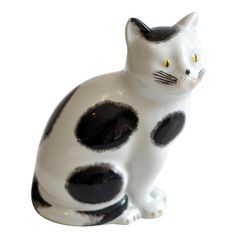 PIERO FORNASETTI Small Ceramic Cat | From a unique collection of antique and modern figurines at http://www.1stdibs.com/furniture/dining-entertaining/figurines/