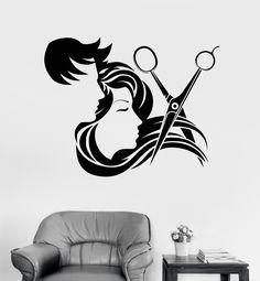 Vinyl Wall Decal Hair Salon Stylist Hairdresser Barber Shop Stickers (ig4133)