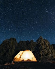Camping beneath the stars in Capitol Reef National Park.