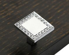 Chic Square Glass Knobs / Clear Crystal Knob / by JackAccessories
