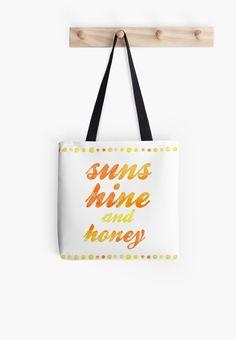 sunshine and honey by chicamarsh1 yellow orange summer love watercolor handwriting decor wall phone shirt pillow home decor affordable nursery kitchen