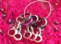 Five Knitting STITCH MARKERS. 5 & 3 mm by MagpieLaneCrafts on Etsy, £6.00