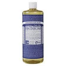 Dr. Bronner's Magic Soap: Pure-Castile Peppermint Soap... made of all organic oils. Best. Body. Wash. Hands-down.