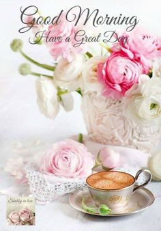 Coffee by Ana Rosa Good Morning Greetings, Good Morning Good Night, Good Morning Wishes, Good Morning Quotes, Morning Hugs, Weekend Greetings, Tuesday Morning, Night Quotes, Sunday