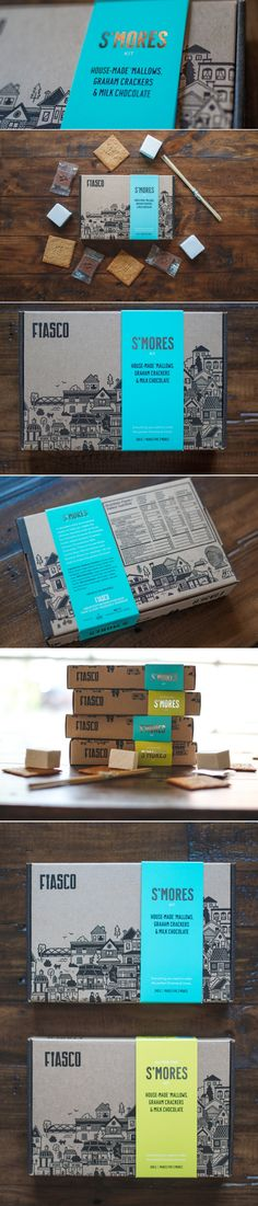 Fiasco Gelato S'mores Kit — The Dieline | Packaging & Branding Design & Innovation News