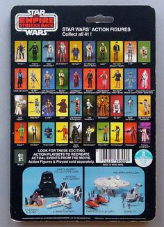 Collect all 41 Kenner Star Wars card back