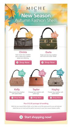 Ecommerce email templates are a versatile and inexpensive way to reach your audience and these newsletters that will surely inspire your next campaign. Newsletter Layout, Email Newsletter Design, Email Newsletters, E-mail Marketing, Email Marketing Design, Orange Leather, Black Faux Leather, Shop Banner Design, Ecommerce