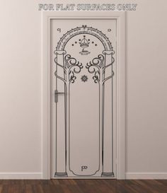 LORD OF THE RINGS GATES OF MORIA HOBBIT DOOR OR WALL ART DECOR DECAL | eBay-------- I need this!