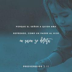 """""""No menosprecies, hijo mío, el castigo de #Jehová, Ni te fatigues de su corrección; Porque Jehová al que #ama castiga, Como el padre al #hijo a quien #quiere."""" #Proverbios 3:11-12 RVR1960 http://bible.com/149/pro.3.11-12.rvr1960 #DíaDelSeñor"""
