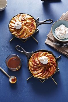 soul comfort food for dark days (i.e. shitty republican takeover)  ~ Caramel Apple French Toast Skillets | MyRecipes