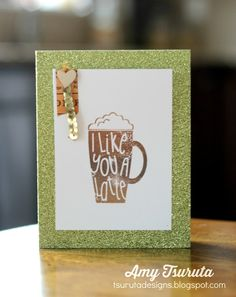 Summer Coffee Lovers Blog Hop Day Five: I like you a latte Hero Arts Giveaway!