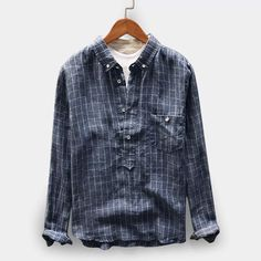 TWO-SIDED Mens Cotton Vintage Plaid Pullover Long Sleeve Casual Henley Shirts is best and cheap on Newchic Mobile. T Shirt Vintage, Vintage Men, Georgia, Henley Shirts, Casual T Shirts, Plaid Shirts, Casual Tops, Collar Shirts, Men's T Shirts