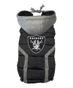 Loving this Oakland Raiders Hooded Puffer Dog Vest on #zulily! #zulilyfinds