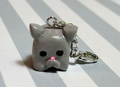 Charm Cat cube polymer clay by ClayMeCuties on Etsy