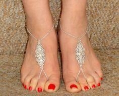 Sandales aux pieds nus de style grecque en argent, argent sandales pieds nus, cheville, pied esclave, nu-pieds sandales UK, sandales pieds nus