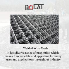 It is made of high tensile steel wire spot welded into a square or rectangular mesh mat structure, prefabricated for concrete elements uses.  Shop now : https://www.bolat.ca/our-products/rock-support-and-ground-consolidation/hermes-mesh/  #wiremesh #undergroundsupport #constructioncompany #weldedmesh