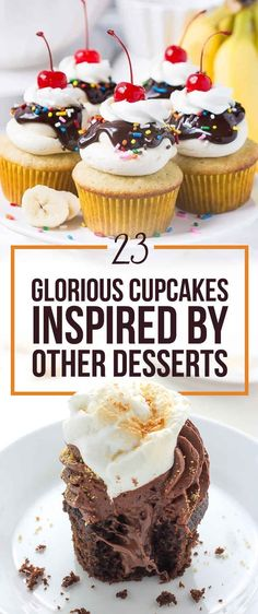 23 Glorious Cupcakes Inspired By Other Desserts| Everything from snickers to pavlova inspired cupcakes
