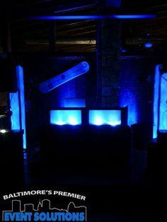 DJ setup with lights