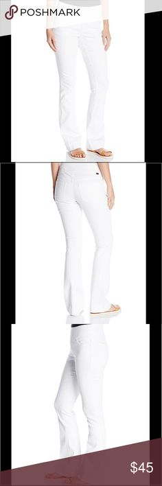 "JAG jeans Ella flare JAG jeans. Ella flare pull on jean. Flattering and stretchy material. Hidden secret waistband slims, shapes and flatters, gives a clean look under tops, and doesn't cinch and bind. Looks good on every body type! NWT. White. Size 2 has a 13"" waist. Size 8 has a 14 1/2"" waist. Both sizes have an approximate 32"" inseam. Jag Jeans Jeans Flare & Wide Leg"