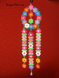 Floral mobile hama beads by Sugarteix -  http://www.sugarshop.eu