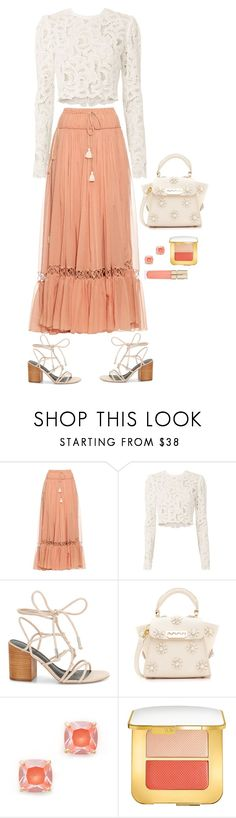 """""""Peachy Cream"""" by musicfriend1 ❤ liked on Polyvore featuring Chloé, A.L.C., Rebecca Minkoff, ZAC Zac Posen, Kate Spade, Tom Ford and Smith & Cult"""