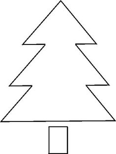 Here Are Your Free Christmas Stencils!: Free Stencil: Christmas Tree 2