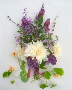 Wedding Bouquet in Purple and light Orange