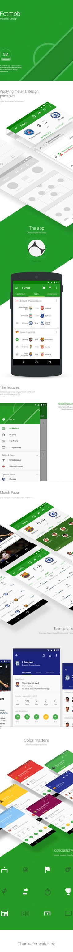 Football app #materialdesign