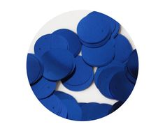 Sequin Paillettes  20mm flat round  Royal Blue Metallic