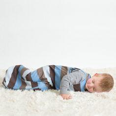 Linzi Merino Blue Stripe Sleepbag