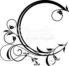 filigree frame images and royalty free stock photos on SpiderPic, a price comparison search engine for royalty free stock photos. Black And White Flower Tattoo, Black And White Flowers, Free Stencils, Stencil Templates, Chocolate Template, Circle Borders, Circle Art, Page Decoration, Victorian Frame