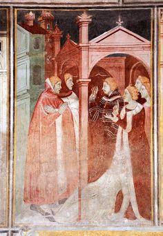L'oratorio di S. Stefano a Lentate sul Seveso Italian Paintings, 14th Century, Cloak, Love And Marriage, Fresco, Art History, Christianity, Stripes, Historical Dress