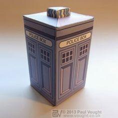 Tektonten Papercraft - Free Papercraft, Paper Models and Paper Toys: 1975 Weetabix TARDIS Papercraft