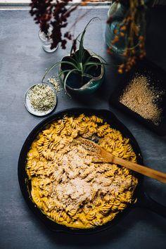vegan sweet potato mac n' cheese   gluten free recipe via willfrolicforfood.com