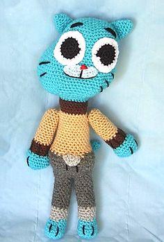 """Amigurumi Gumball """"Trisha""""(de la Serie """"El asombroso mundo de Gumball"""") - Patrón Gratis en Español aquí: http://patronesamigurumipuntoorg.blogspot.de/2014/07/gumball-crochet-juguete-para-ninos.html"""