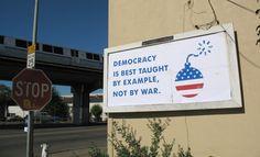 Hijacking the billboard for own message Anti Consumerism, Mark Ryden, Audrey Kawasaki, Pictures Images, Graffiti, Whimsical, War, Billboard, Amen
