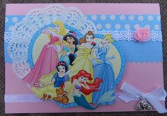 Disney princess scrapcard