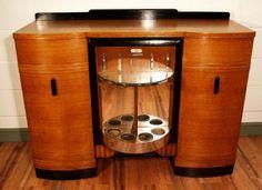 Art Nouveau and Art Deco, Oak Art Deco Sideboard/Cocktail Cabinet