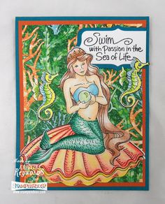 #cret8ime for a charming siren and wonders beneath the sea. #stampendous #g45papers
